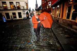 UNT med paraply